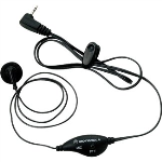 OEM Motorola 53727 Single Pin 2.5mm Earbud with PTT Microphone - Black