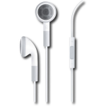 Generic 3.5mm Earbud Headset with Volume Control and Mic - White