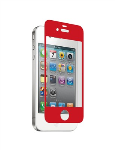 Nitro Glass Screen Protector for Apple iPhone 4/4S - Red