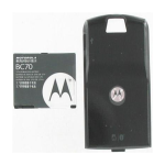 OEM Black Extended Battery And Door For Motorola SLVRL7