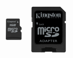 Kingston 1GB Micro SD Memory Card and Adapter