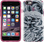 CandyShell Inked Luxury for iPhone 6/6s - Shimmering Rose/Cabernet Red