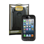 OtterBox - Defender Case for Apple iPhone 5 - Black