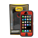 OtterBox - Defender Case for Apple iPhone 5 Cell Phone - Bolt Red/Gray