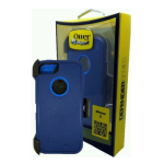 OtterBox - Defender Case for Apple iPhone 5 - Night Sky Blue/Blue