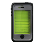 OtterBox Armor Waterproof Case for Apple iPhone 4/4S - Neon Green/Black