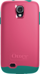OtterBox Symmetry Case for Samsung Galaxy S4 - Teal Rose (BLAZE PINK/LIGHT TEAL)