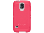 Samsung Defender Case for Galaxy S5 - Neon Rose (Whisper White/Blaze Pink)
