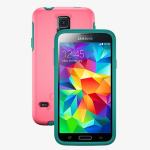 Otterbox Symmetry Case for Samsung S5 - Teal Rose (Blaze Pink/Light Teal)