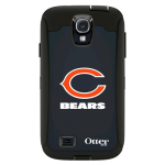 OtterBox Defender Case for Samsung Galaxy S4 - NFL Bears (Black, Chicago Bears NFL Logo)