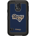 OtterBox Defender Case for Samsung Galaxy S5 - NFL Rams (Black, St Louis Rams NFL Logo)
