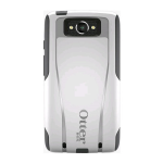 OtterBox Commuter Case for Motorola Droid Turbo - Ash (White/Slate Gray)