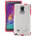 OtterBox Commuter Case for Samsung Galaxy Note 4 - Neon Rose (Whisper White/Blaze Pink)