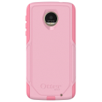 OtterBox Commuter Case for Motorola Moto Z Droid - Bubblegum Way (Bubblegum Pink/Seashell Pink)