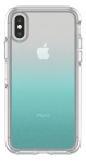 OtterBox Symmetry Clear Case for iPhone XS/X - Aloha Hombre (SILVER FLAKE/CLEAR/ALOHA OMBRE)