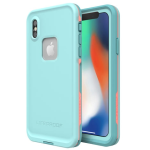 LifeProof Waterproof fre Case for Apple iPhone X/XS - Wipeout (BLUE TINT/FUSION CORAL/MANDALAY BAY)