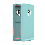 SAMSUNG GALAXY S9 LIFEPROOF FRE CASE-WIPEOUT (LIGHT BLUE, CORAL)