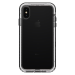 LifeProof NEXT Dirtproof Snowproof Case for iPhone XS Max - Black Crystal (Clear/Black)