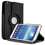 Unlimited Cellular Multi-Angle 360 Stand Folio Case for Samsung Galaxy Tab 3 (8.0) - Black