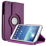 Unlimited Cellular Multi-Angle 360 Stand Folio Case for Samsung Galaxy Tab 3 (8.0) - Purple