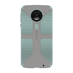 Speck CandyShell Grip Case for Moto Z Droid - Sand Grey/Aloe Green