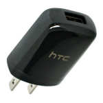 HTC Universal Travel Charger Compatible with All Phones and Devices - Black