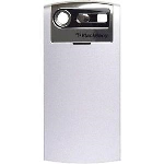 OEM BlackBerry 8130 8120 8110 Pearl Battery Door - Silver