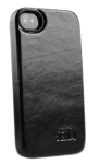 Azra Coperti Leather Case for Apple iPhone 4/4S (Black) - 816401S
