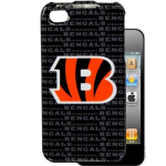 HeadCase NFL Cincinnati Bengals Snap-On Case for Apple iPhone 4 / 4S (Black)