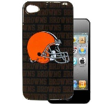 HeadCase NFL Cleveland Browns Snap-On Case for Apple iPhone 4 / 4S (Black)