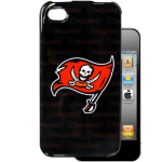 HeadCase NFL Tampa bay Bucs Snap-On Case for Apple iPhone 4 / 4S (Black)