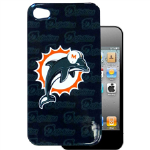 HeadCase NFL Miami Dolphins Snap-On Case for Apple iPhone 4 / 4S (Blue)