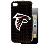HeadCase NFL Atlanta Falcons Snap-On Case for Apple iPhone 4 / 4S (Black)