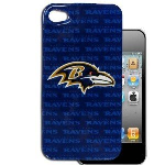 HeadCase NFL St. Baltimore Ravens Snap-On Case for Apple iPhone 4 / 4S (Blue)