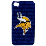 HeadCase NFL Minnesota Vikings Snap-On Case for Apple iPhone 4 / 4S (Blue)