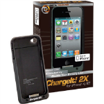 Digital Treasures Chargeit! 2X Backup Battery Case for Apple iPhone 4/4S (Black)
