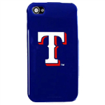 HeadCase MLB Texas Rangers Snap-On Case for Apple iPhone 4 / 4S (Blue)