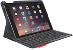 Logitech Type + Protective Case with Integrated Keyboard for iPad Air 2 - Dark Blue