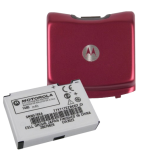 OEM Motorola 98795H Extended Battery & Door Combo for RAZR V3m (Maroon)