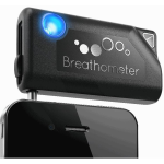 Breathometer A01 Smartphone Breathalyzer for iPhone, Android (Black)