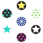 MiButton Home Button Stickers - Twinkling Stars