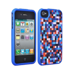 Speck Fitted Hard Case with Fabric for Apple iPhone 4 / 4S (Pixel Party Blue/Red)