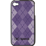 Speck Fitted Argyle Design Case for Apple iPhone 4/4S (Purple)