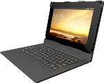 Zagg Auto-Fit Folio Keyboard Case for Android Tablet 10 - Black