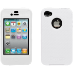 OTTERBOX Defender case is bump, drop &dust protection case w/swivel belt clip.White/White