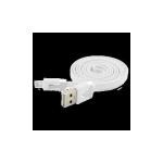 PCS Brand Products Apple iPhone 5 Series Flat Noodle 8-Pin Lightning to USB Cable 1 Meter Length (White) - APLIPH5FDCWH