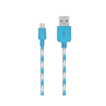 Verizon Braided Lightning Charge and Sync Cable for Apple iPhone 7, 6, 5, iPad Air, iPad Pro - Blue / White