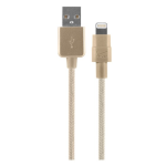Verizon Braided Lightning Charge and Sync Cable for Apple iPhone 6, iPad Air, iPad Pro, iPhone 5 - Gold