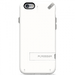 APPLE IPHONE 6/6S PUREGEAR SLIM SHELL CASE WITH KICKSTAND - WHITE/GRAY
