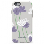 APPLE IPHONE 6/6S PUREGEAR MOTIF SERIES CASE - GREY/WHITE AND PURPLE FLORAL